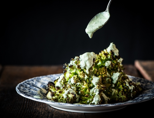 Whole Grilled Romanesco with Herb Aioli