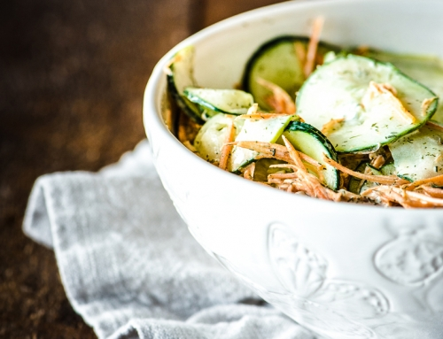 Raw Carrot and Cucumber Salad with Creamy Dill Vinaigrette