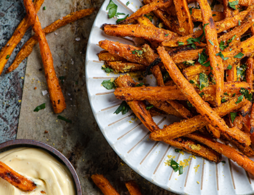 Carrot Fries with Truffle Mayo